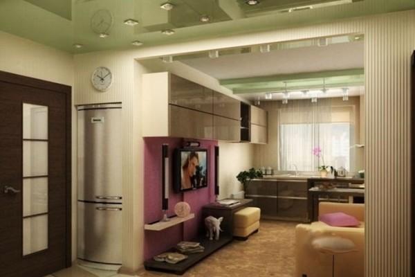 Кухня гостиная в хрущевке — реальные фото дизайна