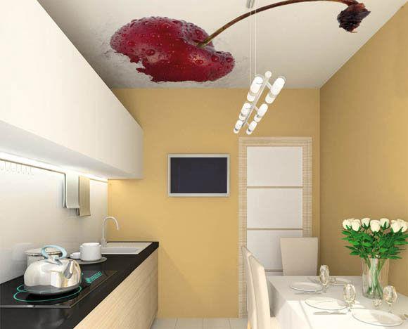 аппетитная свежая вишня во весь потолок