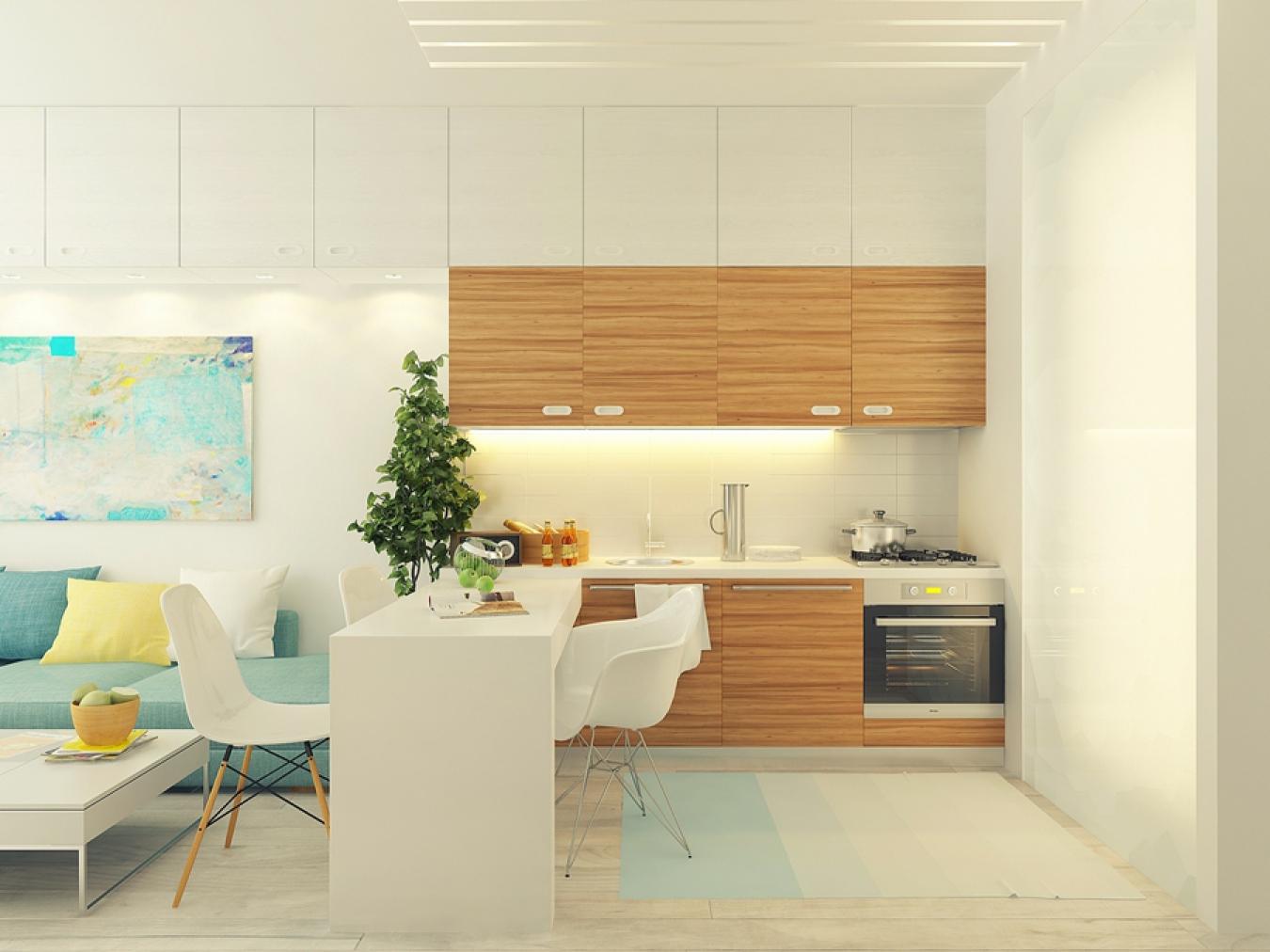 Дизайн кухни-студии 20 кв м