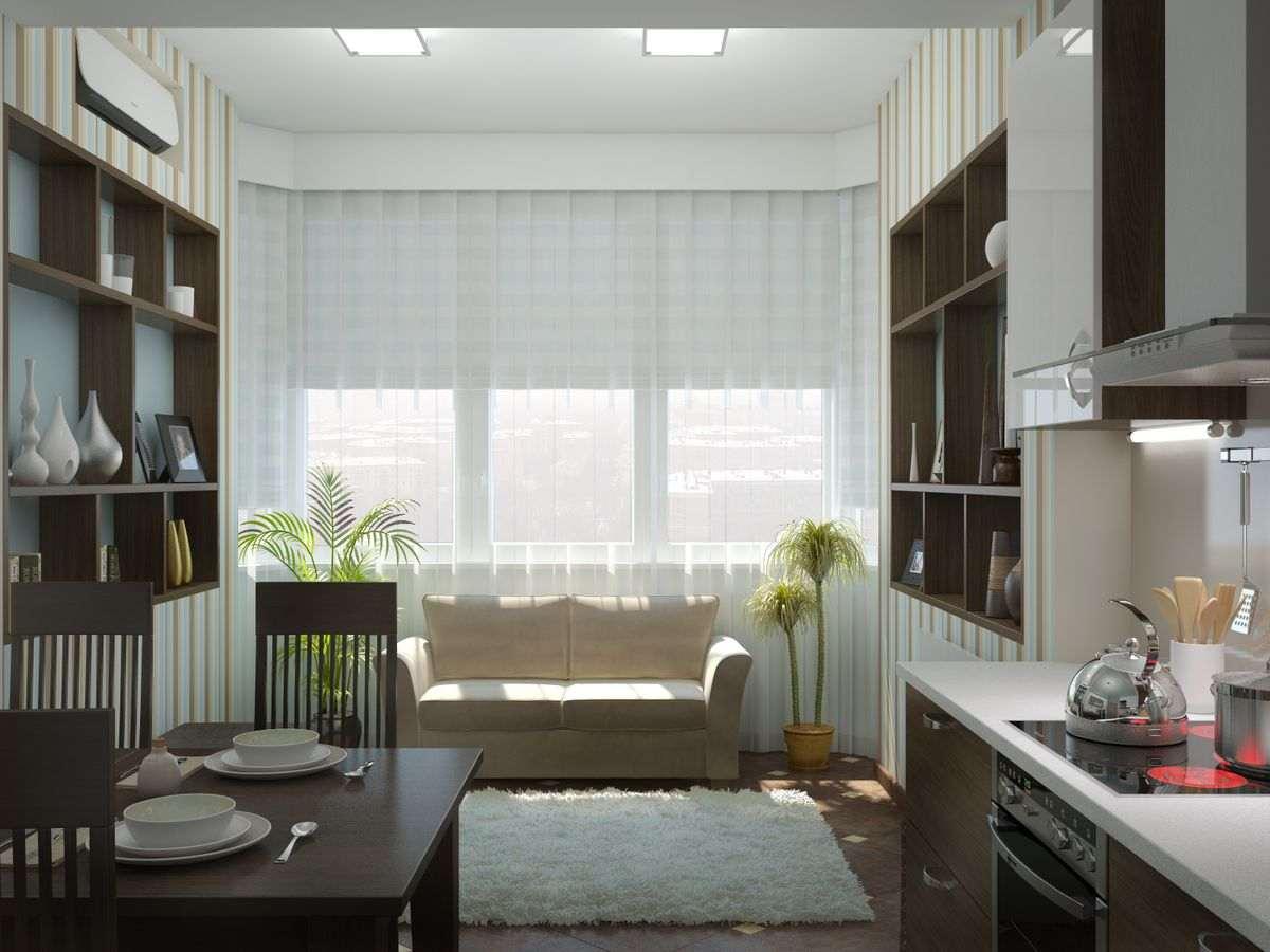 Кухня 17 кв м дизайн с диваном