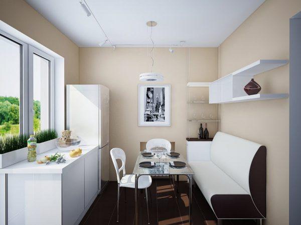 элегантный и стильный диван для кухни