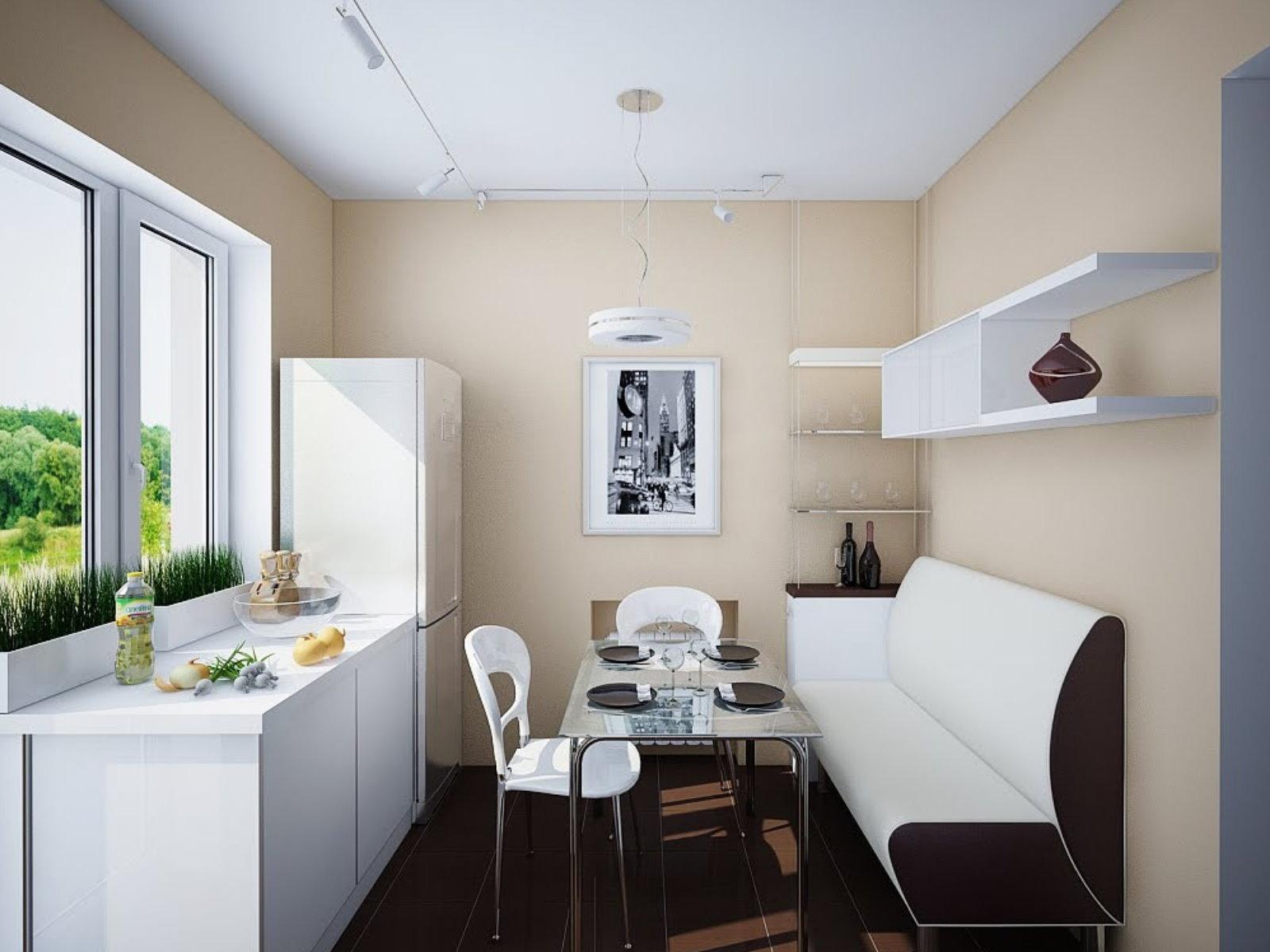 Идеи дизайна маленькой кухни (9 квадратов) с фотографиями.