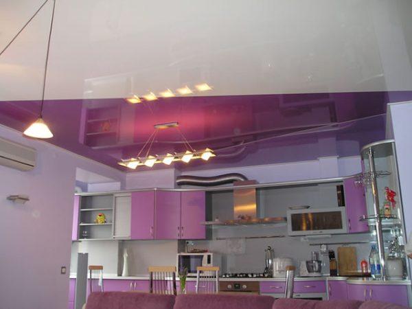 диагональное сечение пурпурного и белого