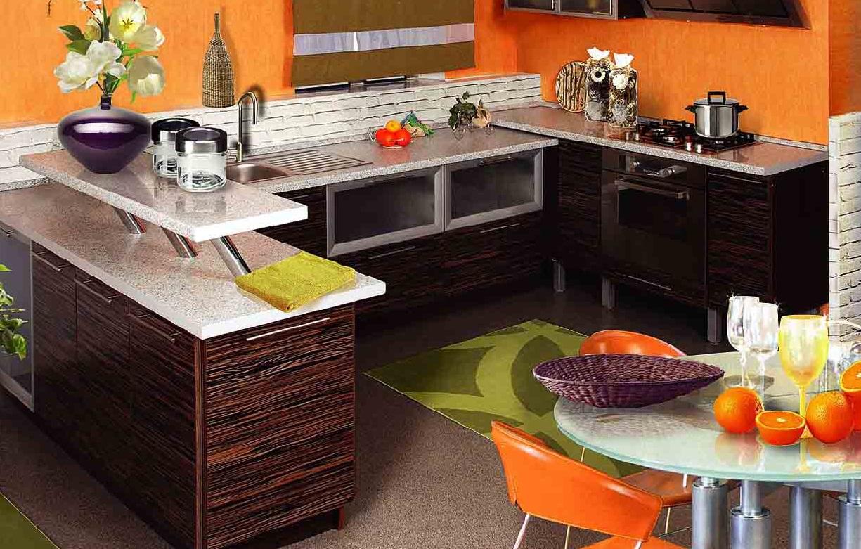 Апельсиновый на кухне