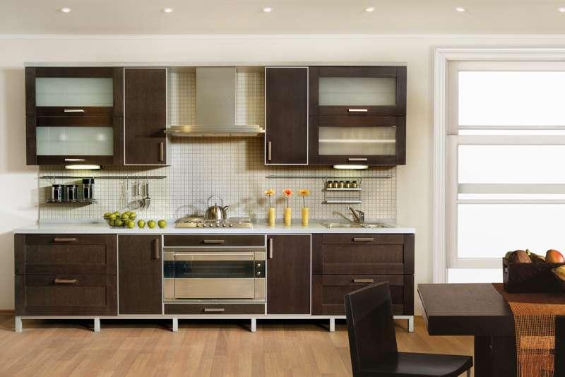 Кухня с матовой поверхностью