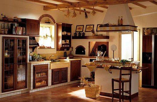 рустик на кухне
