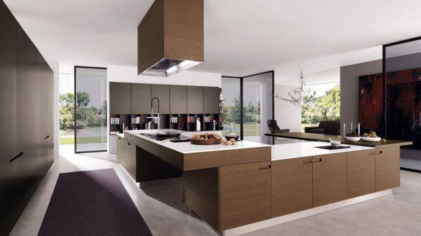 все цвета для мебели хороши на белом фоне кухни