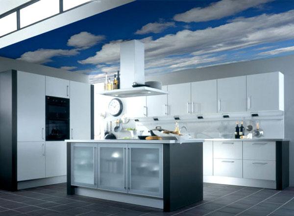 небо в облаках на кухне