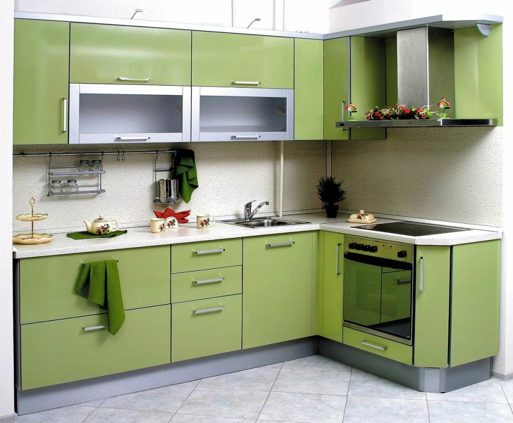 Кухня с цельной столешницей