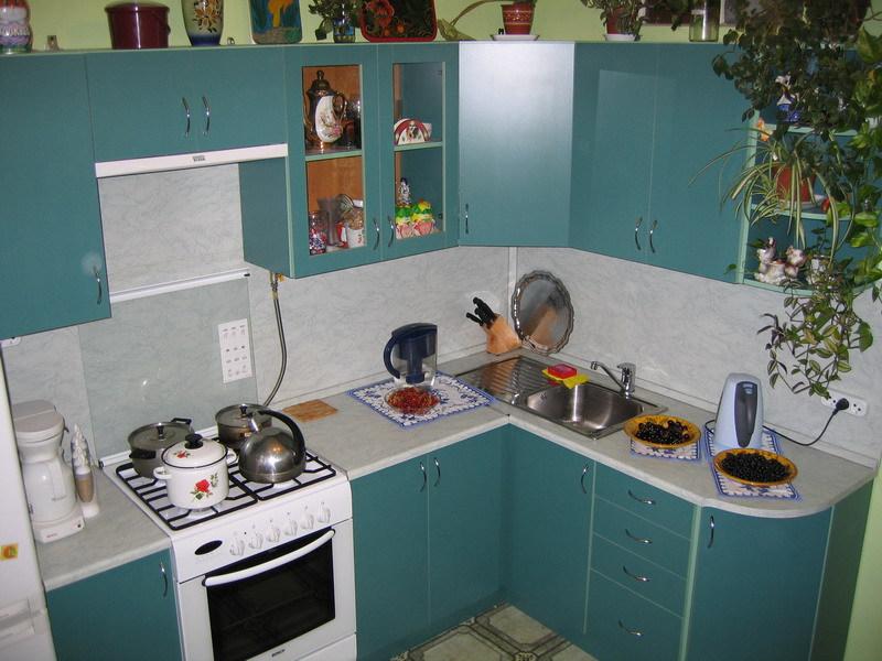 Кухня с закруглённым торцом
