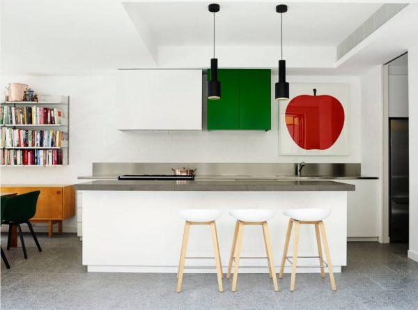 Керамогранит на кухонном полу