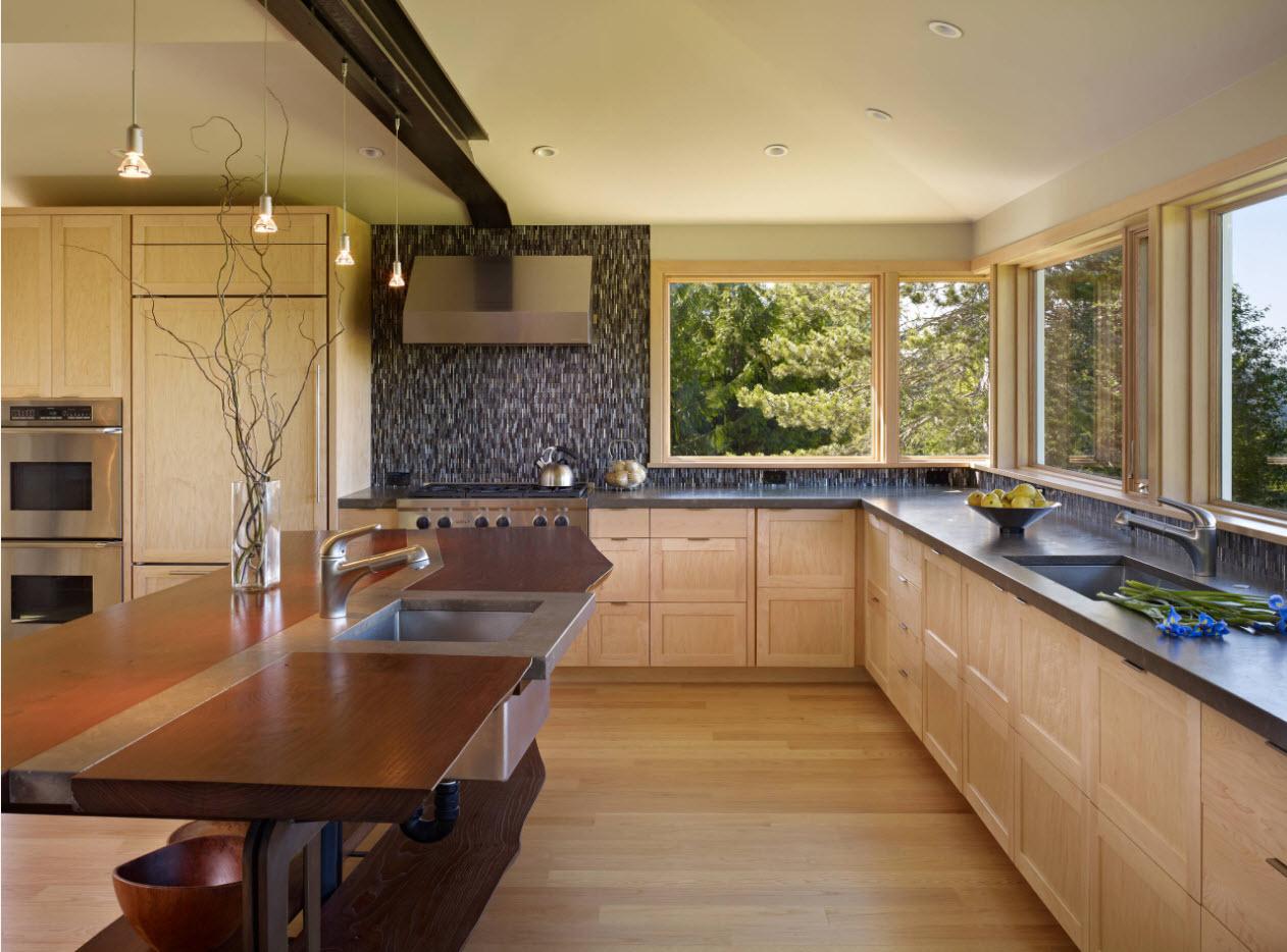 Фото идеи больших кухонь