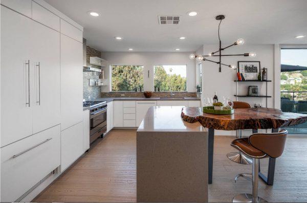 Дизайн для кухни 2017 года с использованием натуральных материалов