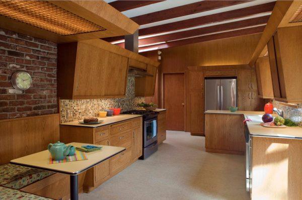 Дизайн для кухни 2017 года из дерева