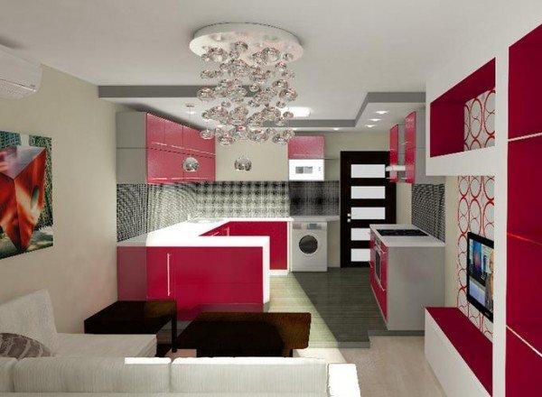 потолок на кухне-гостинной