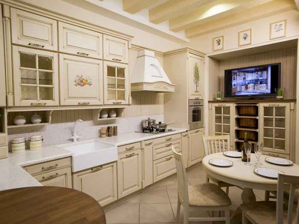 Роскошная угловая кухня