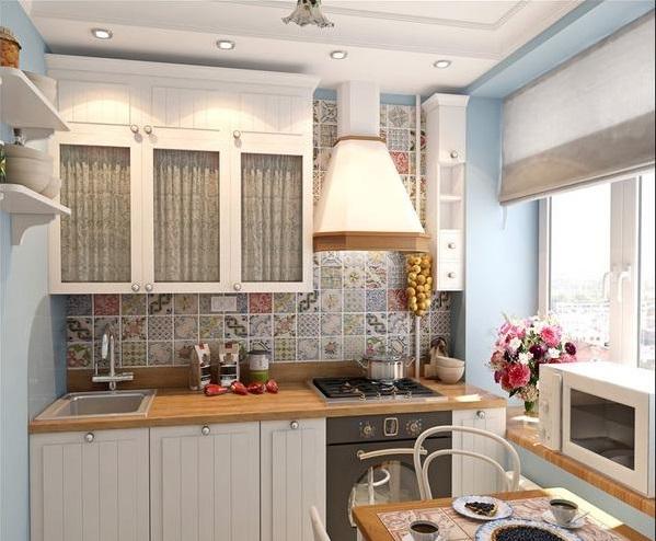 Дизайн угловой кухни прованс в хрущевке 6 кв м