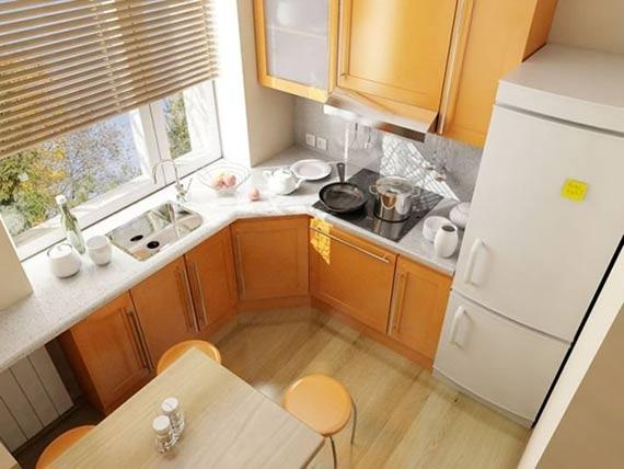Дизайн жёлтой кухни 6 кв м в хрущевке
