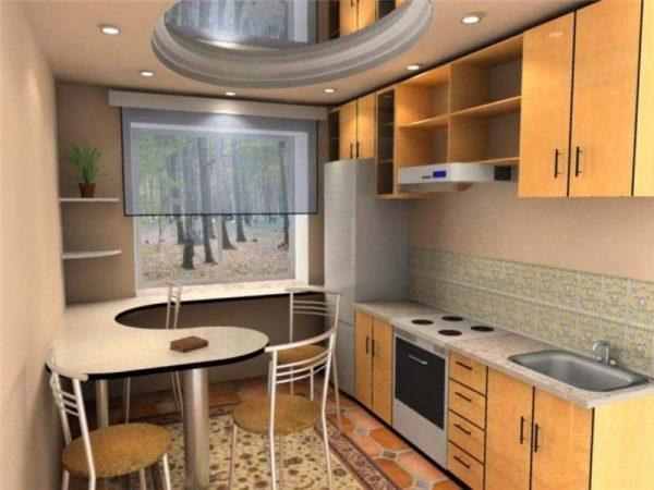 Дизайн персиковой кухни 6 кв м в хрущевке