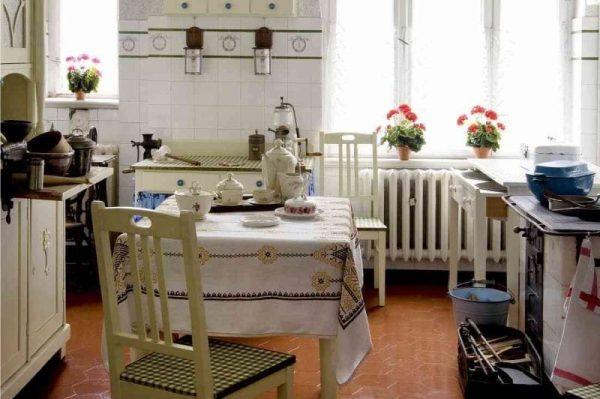 деревенский стиль на кухне в стиле кантри