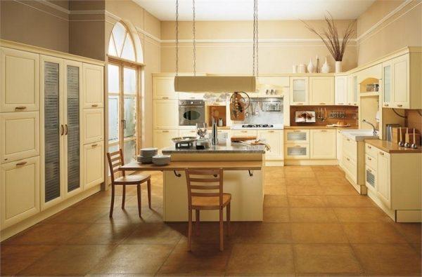 кремовый на кухне в стиле кантри