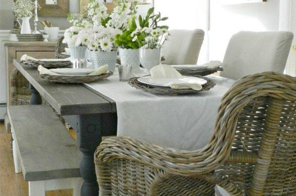 сервировка стола на кухне в стиле кантри