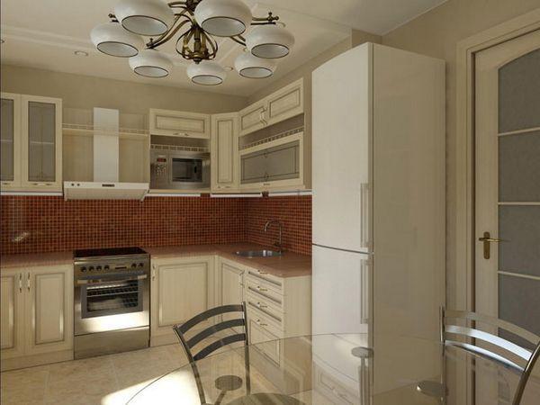 белая кухня на 8 м.кв