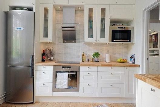 кухня 8 метров с холодильником
