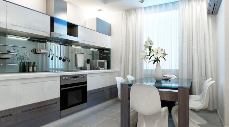 Современный дизайн для небольшой кухни