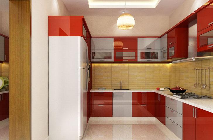 П-образная планировка для кухни 8 квадратов
