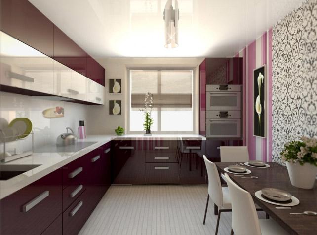 дизайн кухни 8 кв. м. фото