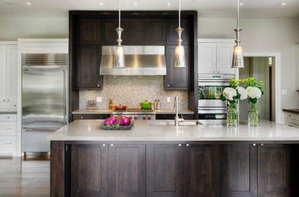 Современный интерьер небольшой кухни