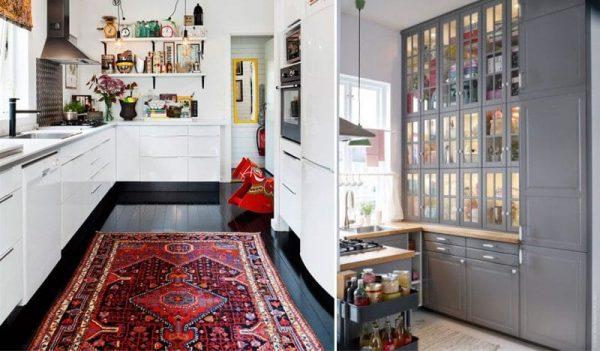шкафы колонны на кухне