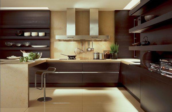кухня венге с полками