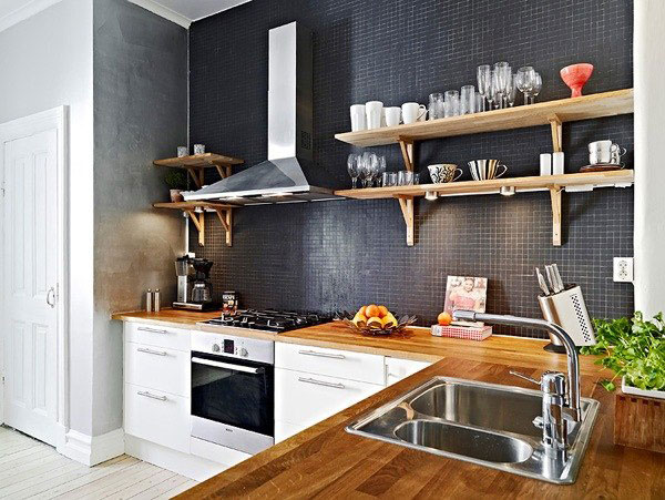 декоративная стена на кухне