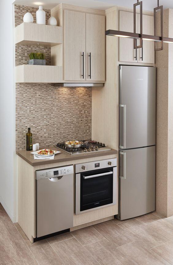 маленькая кухня линейная