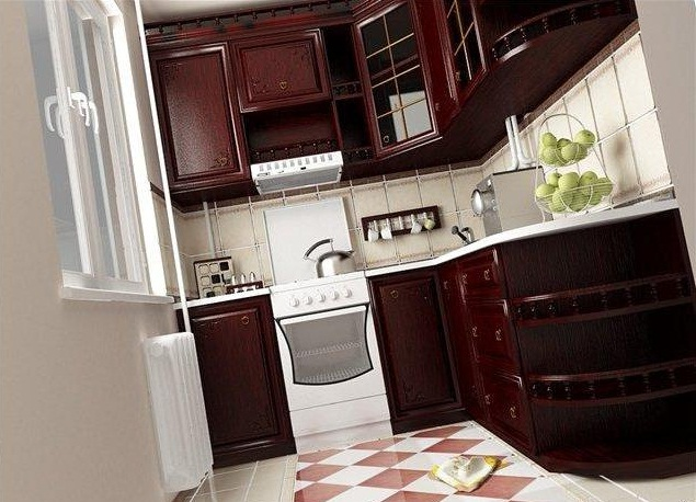 цвет венге на кухне