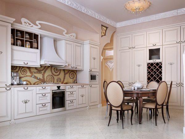 оформление кухни в стиле классика