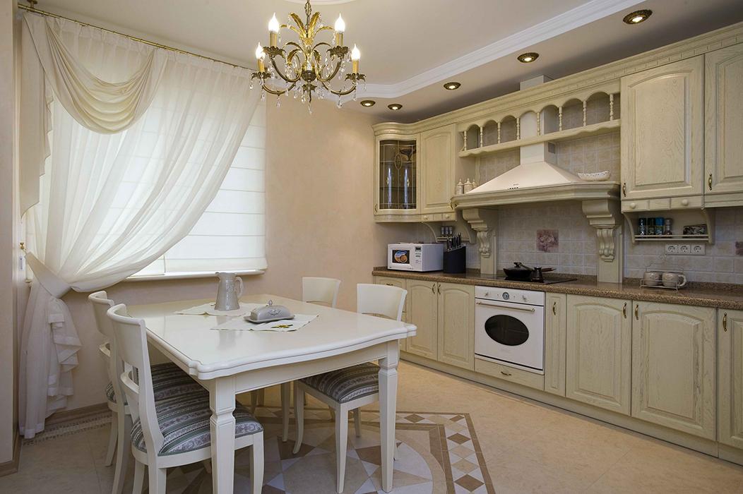 Интерьеры классических кухонь фото