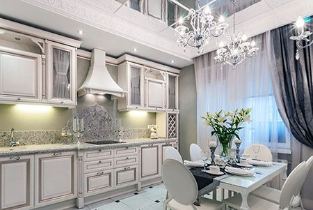 Освещение кухни в стиле классика