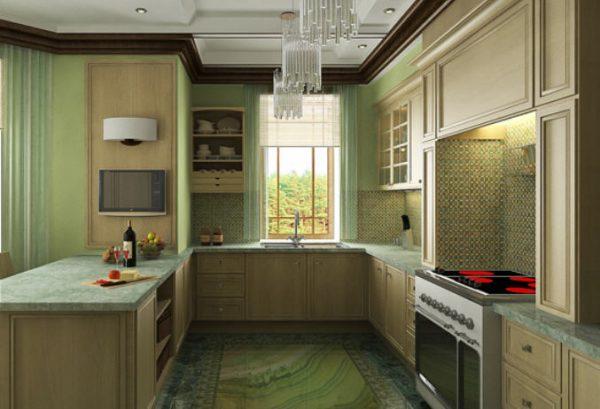 Интерьер классической кухни