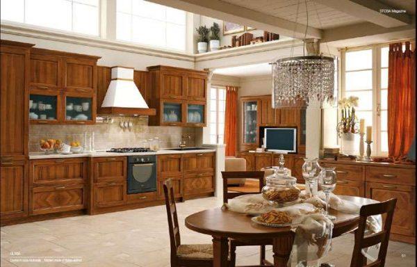 деревянная кухня в классическом стиле