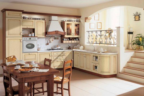 кухня в классическом стиле в пастельных тонах