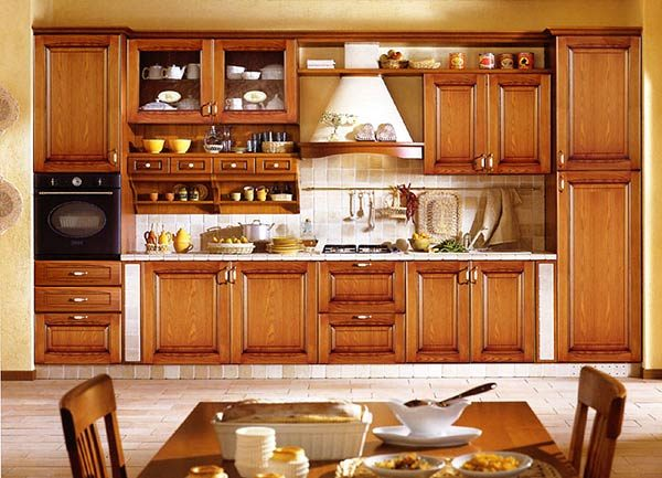 кухня в классическом стиле из дерева