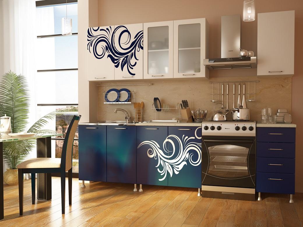 Кухня экономкласса с орнаментом
