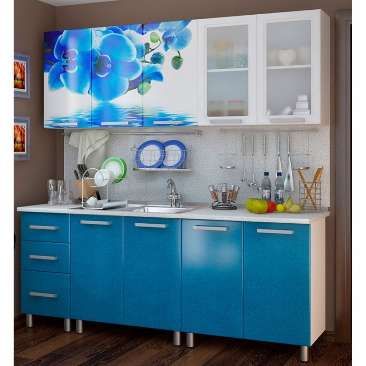 Голубая кухня экономкласса