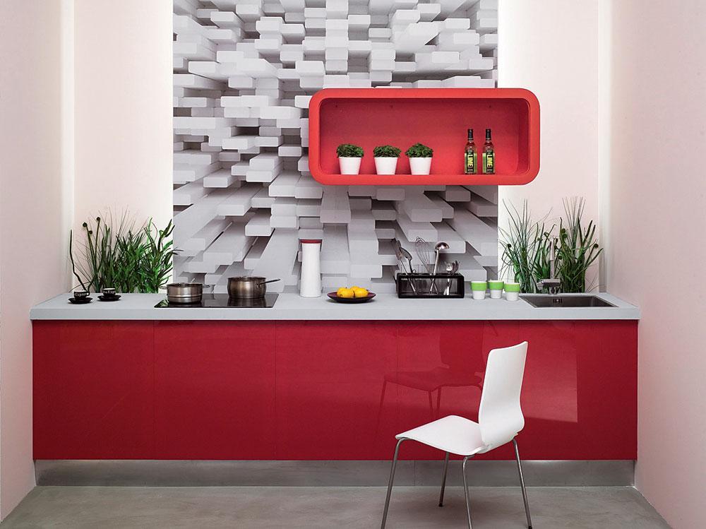 фотообои для кухни с абстракцией
