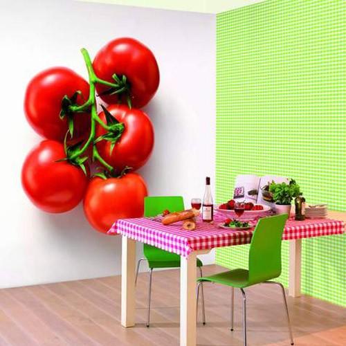 Фотообои для кухни помидор
