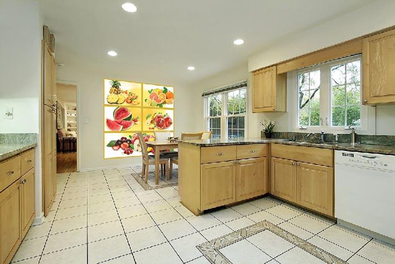 Фотообои для кухни как картина