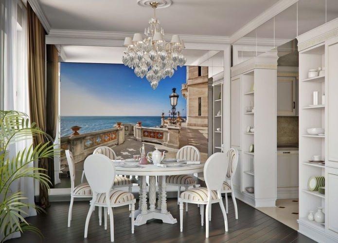 Фотообои для кухни с морским пейзажем